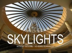 Glazetech skylight system without silicone adhesive 10 years guarantee