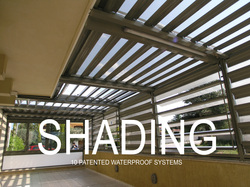 Glazetech shading system DE patented waterproof